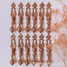 Antigüedades: BONITOS TIRADORES ANTIGUOS DE BRONCE MACIZO (PRECIO 1 UNIDAD) ANTIQUE UNIQUE. Lote 288863513