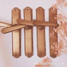 Antigüedades: BONITAS MANILLAS ANTIGUAS DE BRONCE MACIZO (PRECIO 1 UNIDAD) ANTIQUE UNIQUE. Lote 288863533