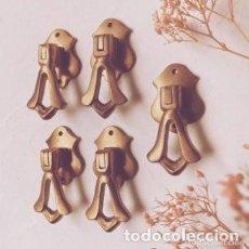 Antigüedades: BONITOS TIRADORES ANTIGUOS DE BRONCE MACIZO (PRECIO 1 UNIDAD) ANTIQUE UNIQUE. Lote 288863958
