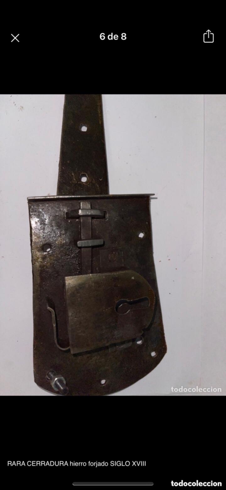 Antigüedades: RARA CERRADURA hierro forjado SIGLO XVIII - Foto 6 - 288864208