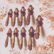 Antigüedades: BONITOS TIRADORES ANTIGUOS DE BRONCE MACIZO (PRECIO 1 UNIDAD) ANTIQUE UNIQUE. Lote 288864668
