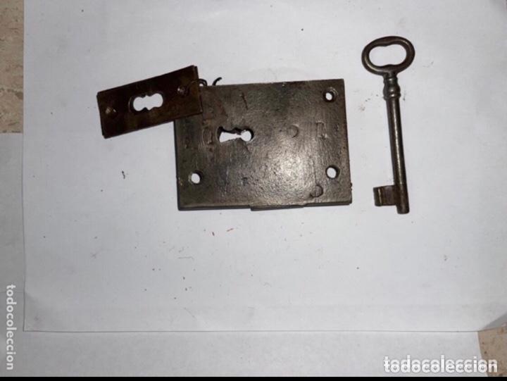CERRADURA COMPLETA SIGLO XVIII (Antigüedades - Técnicas - Cerrajería y Forja - Cerraduras Antiguas)