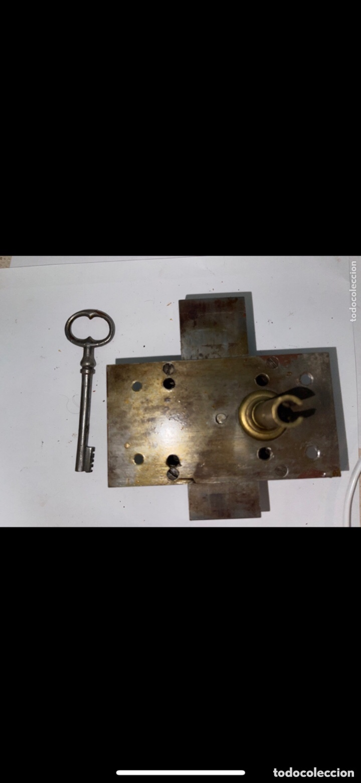Antigüedades: ANTIGUA CERRADURA SIGLO XX CON LLAVE - Foto 2 - 288868058