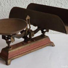 Antigüedades: ANTIGUA BALANZA DE HIERRO - DECORACIÓN RÚSTICA FORJA. Lote 288857738