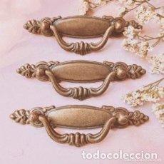 Antigüedades: LOTE DE 3 TIRADORES ANTIGUOS CLÁSICOS ANTIQUE UNIQUE. Lote 288877458