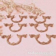 Antigüedades: TIRADORES ANTIGUOS MODERNISTAS BRONCE (PRECIO LOTE) ANTIQUE UNIQUE. Lote 288878733