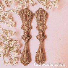 Antigüedades: LOTE TIRADORES ANTIGUOS DE BRONCE (PRECIO 2 UNIDADES) ANTIQUE UNIQUE. Lote 288882938