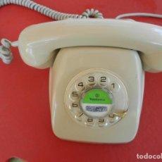 Teléfonos: ANTIGUO TELÉFONO HERALDO - COLOR BEIG - CON RUEDA - AÑOS 70 - TELEFÓNICA ESPAÑA.. Lote 288917938