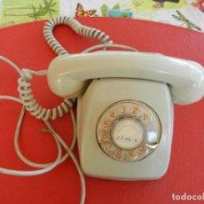 Teléfonos: ANTIGUO TELÉFONO HERALDO - COLOR BEIG - CON RUEDA - AÑOS 70 - TELEFÓNICA ESPAÑA.. Lote 288918093