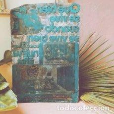 Antigüedades: IMPRESIONANTE GRAN PLACA DE IMPRENTA ANUNCIO ANTIQUE UNIQUE. Lote 288950543