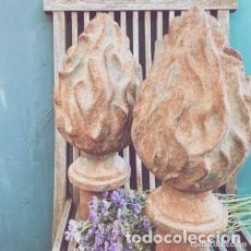 Antigüedades: PRECIOSA BOLA TERMINAL ESCALERA HIERRO FUNDIDO ANTIQUE UNIQUE. Lote 288955658