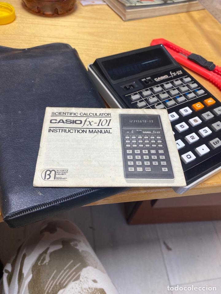CALCULADORA CASIO FX-101. CON MANUAL Y FUNDA. MUY BUEN ESTADO (Antigüedades - Técnicas - Aparatos de Cálculo - Calculadoras Antiguas)