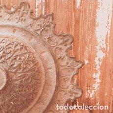 Antigüedades: PRECIOSO PLAFÓN DE HIERRO FUNDIDO ANTIGUO ORNAMENTADO ANTIQUE UNIQUE. Lote 289205683