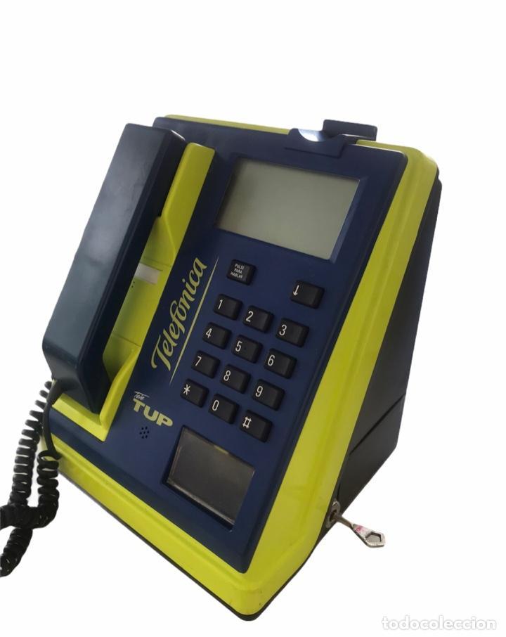 TELÉFONO- CABINA TELEFÓNICA DE MONEDAS TETE TUP. (Antigüedades - Técnicas - Teléfonos Antiguos)