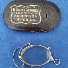Antigüedades: EXTRAORDINARIA LENTE COMIENZOS SIGLO XX DE B. AUBAN GASQUET . SEVILLA. Lote 289248568