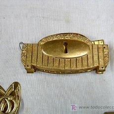 Antigüedades: ANTIGUAS BOCA LLAVES HORIZONTALES DECO PARA MUEBLES - EN METAL - RESTAURACIÓN MUEBLES. 11X5 CM. Lote 289548813