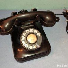 Teléfonos: ANTIGUO TELEFONO DE BAQUELITA NEGRO DE TELEFONICA AÑOS 50. Lote 289555503