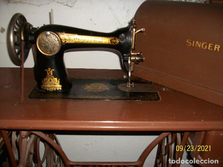 Antigüedades: ANTIGUA MAQUINA DE COSER SINGER-COMPLETA-AÑO 1926 - Foto 15 - 289562618