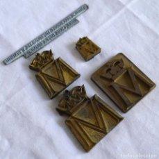 Antigüedades: 5 SELLOS TAMPONES DE IMPRESIÓN EN BRONCE Y METAL BLANCO, CASA DE LA MONEDA. Lote 289590383