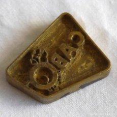Antigüedades: SELLO TAMPÓN DE IMPRESIÓN EN BRONCE EMPRESA CABO. Lote 289590558