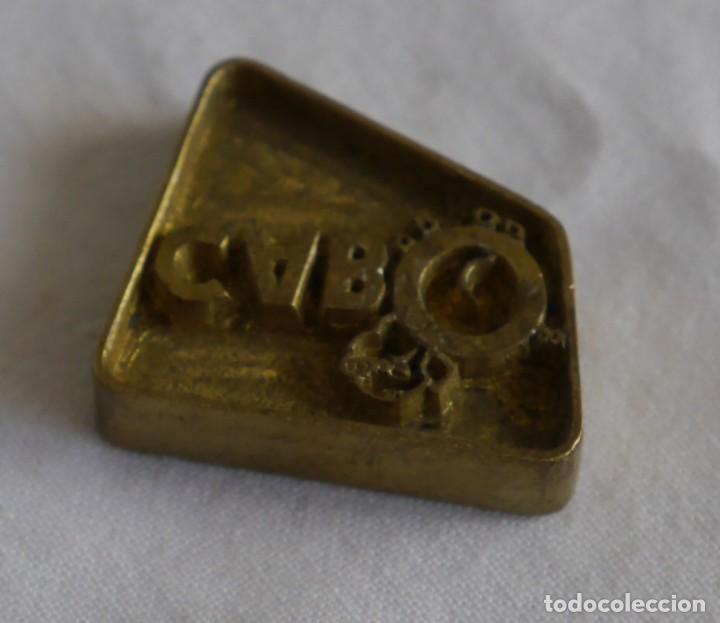 Antigüedades: Sello tampón de impresión en bronce Empresa CABO - Foto 3 - 289590558