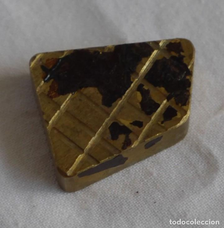 Antigüedades: Sello tampón de impresión en bronce Empresa CABO - Foto 4 - 289590558