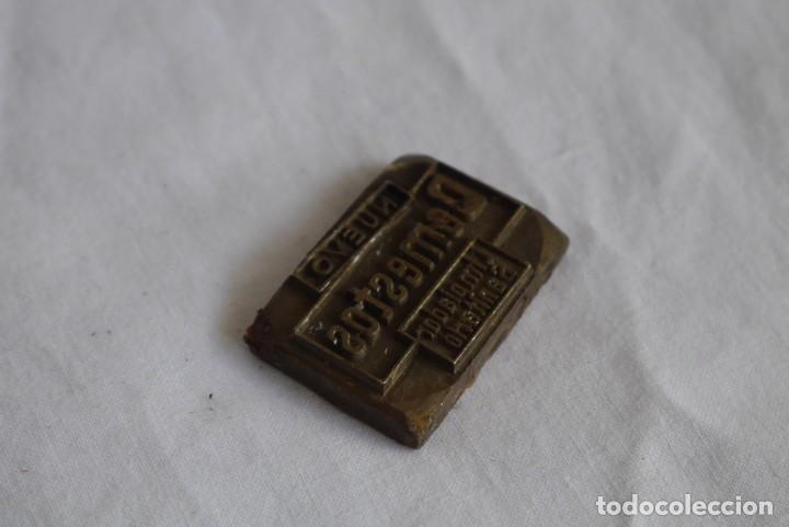 Antigüedades: Sello tampón de impresión en bronce Domestos - Foto 3 - 289590628