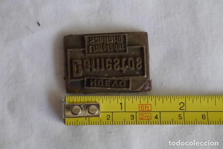 Antigüedades: Sello tampón de impresión en bronce Domestos - Foto 4 - 289590628
