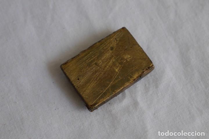 Antigüedades: Sello tampón de impresión en bronce Domestos - Foto 5 - 289590628