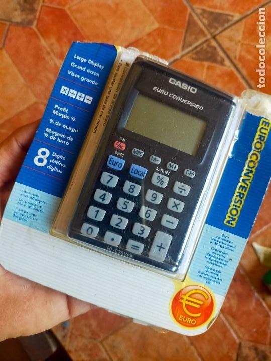 ANTIGUA CALCULADORA COVERSOR EURO - CASIO (Antigüedades - Técnicas - Aparatos de Cálculo - Calculadoras Antiguas)