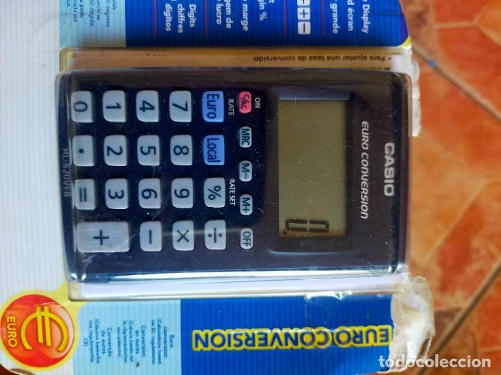 Antigüedades: Antigua calculadora coversor Euro - Casio - Foto 2 - 289628178