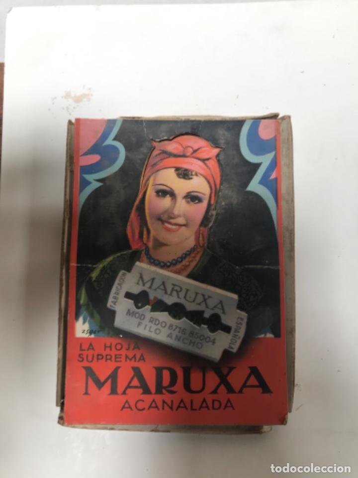 Antigüedades: Hojas de afeitar Maruxa - Foto 2 - 289717703