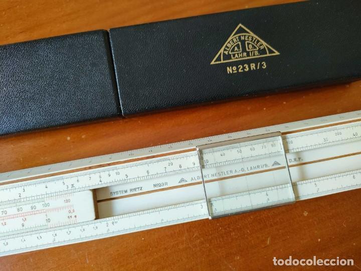 Antigüedades: REGLA DE CALCULO ALBERT NESTLER Nº 23R SYSTEM RIETZ CON SU ESTUCHE - CALCULADORA SLIDE RULE - Foto 40 - 289818268