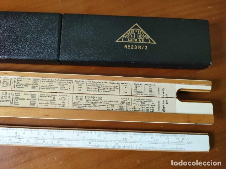 Antigüedades: REGLA DE CALCULO ALBERT NESTLER Nº 23R SYSTEM RIETZ CON SU ESTUCHE - CALCULADORA SLIDE RULE - Foto 76 - 289818268