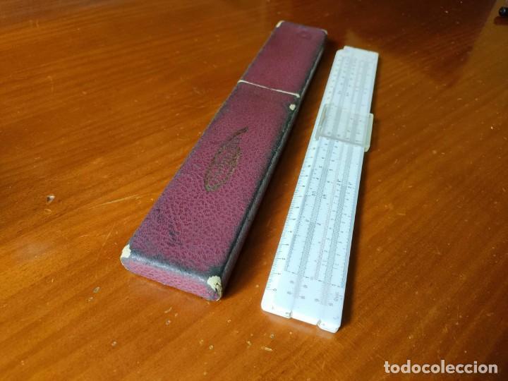 Antigüedades: REGLA DE CALCULO GRAPHOPLEX CON SU ESTUCHE - RAHPOPLEX CALCULADORA MADE IN FRANCE REGLE A CALCUL SLI - Foto 31 - 289848298
