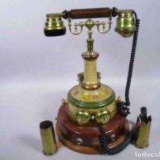 Antigüedades: IMPRESIONANTE ENORME 40 CM ALT. RARO TELEFONO NAUTICO CON ESCRIBANIA CAJON TINTEROS POLIVALENTE. Lote 289921193