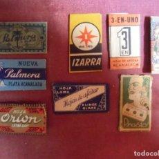 Antigüedades: LOTE DE 8 HOJAS DE AFEITAR ANTIGUAS Y TODAS DISTINTAS.. Lote 290105558