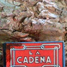 Antigüedades: LA CADENA ,CAJA DE 10 HOJAS DE AFEITAR, NUEVA SIN USAR. Lote 290112988