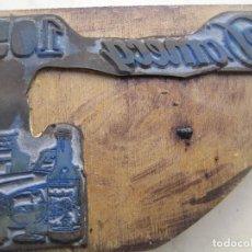 Antigüedades: IMPRENTA - GRABADO METAL Y MADERA - REF. 519 - DOMECQ. Lote 290203398