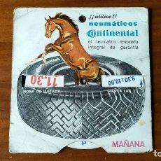Antiguidades: CONTINENTAL NEUMATICOS DISCO DE CONTROL HORARIO DE APARCAMIENTO ESTACIONAMIENTO - RELOJ PUCLICIDAD.. Lote 290525023
