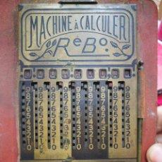 Antiguidades: CALCULADORA MACHINE A CALCULER REBO OPERATIVA ESTADO EL QUE SE APRECIA. Lote 291317378