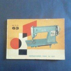 Antigüedades: MANUAL DE INSTRUCCIONES ALFA MODELO 63.. Lote 291853898