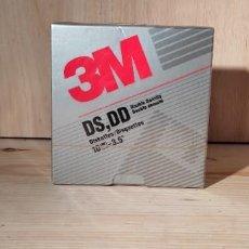 Antigüedades: CAJA 10 DISQUETTES 3M NUEVA 3.5 3 1/2 FORMATEADOS ALTA DOBLE DENSIDAD DISKETES IBM PC DISCO DISQUET. Lote 291911023
