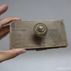 Antigüedades: ANTIGUO SECANTE CON PUBLICIDAD DE ASCENSORES Y MONTACARGAS ERSGE DE BARCELONA, PRINCIPIOS S.XX. Lote 292135018