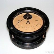 Antigüedades: (01) ANTIGUO Y GRAN AMPERÍMETRO INDUSTRIAL - EMPOTRABLE - A.E.M.S.A. - 18 CMS.. Lote 292546123