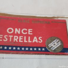 Antigüedades: FUNDA HOJA DE AFEITAR 11 ESTRELLAS SIN CUCHILLA. Lote 293580078