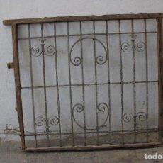 Antigüedades: ANTIGUA REJA VENTANA HIERRO DE FORJA. Lote 294119373