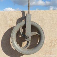 Antigüedades: GRAN POLEA, CARRUCHA O PASTECA DE HIERRO COLADO,DIÁMETRO 24,2CM, 3973GR. Lote 294865443