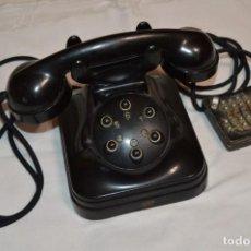 Teléfonos: VINTAGE / ANTIGUO Y RARO TELÉFONO DE BAKELITA Y SOLO 6 NÚMEROS / ESTANDAR ELÉCTRICA - MADRID ¡MIRA!. Lote 295518143