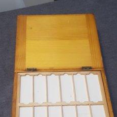 Antigüedades: MICROSCOPIO. ANTIGUA CAJA PARA PREPARACIONES MICROSCOPICAS C.1900. Lote 295625608